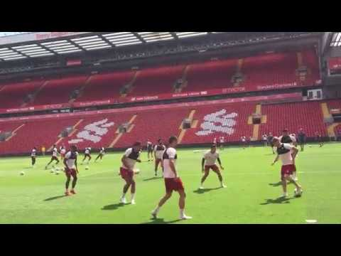 Liverpool training session at Anfield ahead of UCL Final