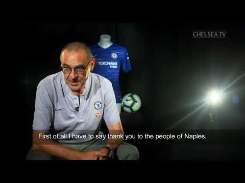 MAURIZIO SARRI FIRST INTERVIEW AT CHELSEA