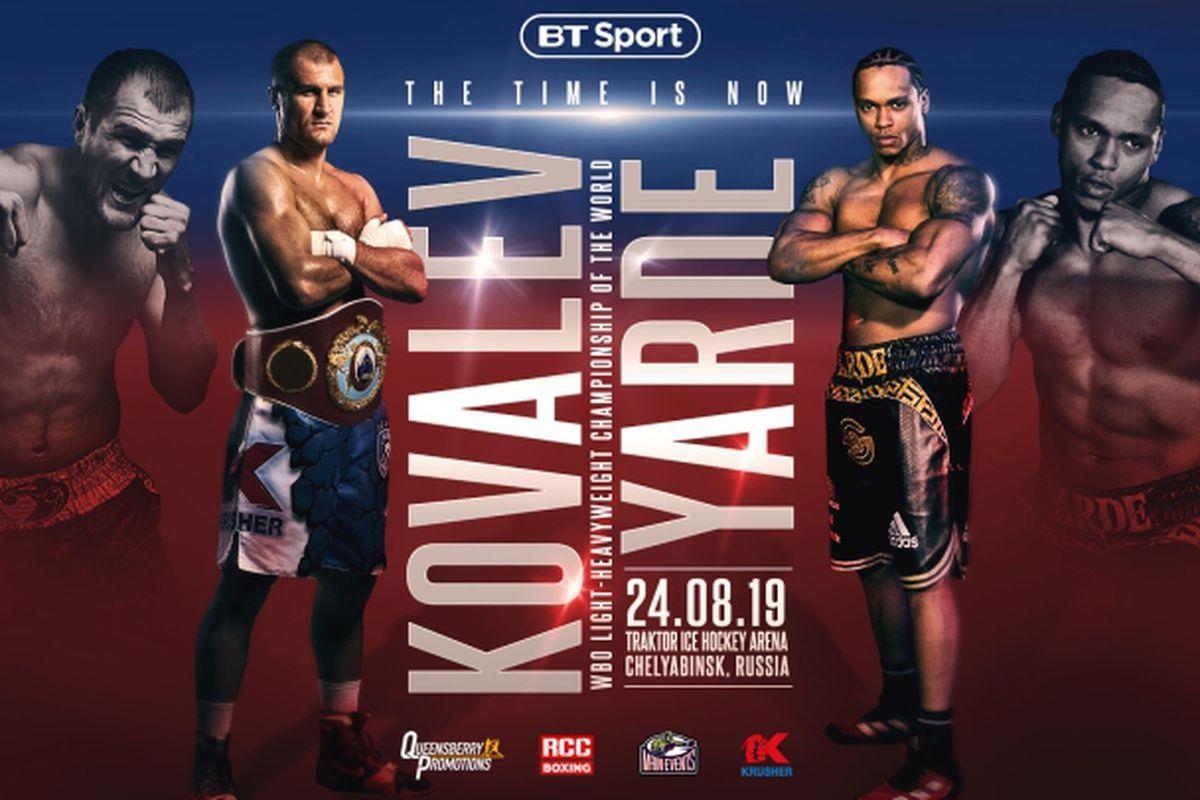 Boxing - Sergey Kovalev v Anthony Yarde | 24 August 2019 1